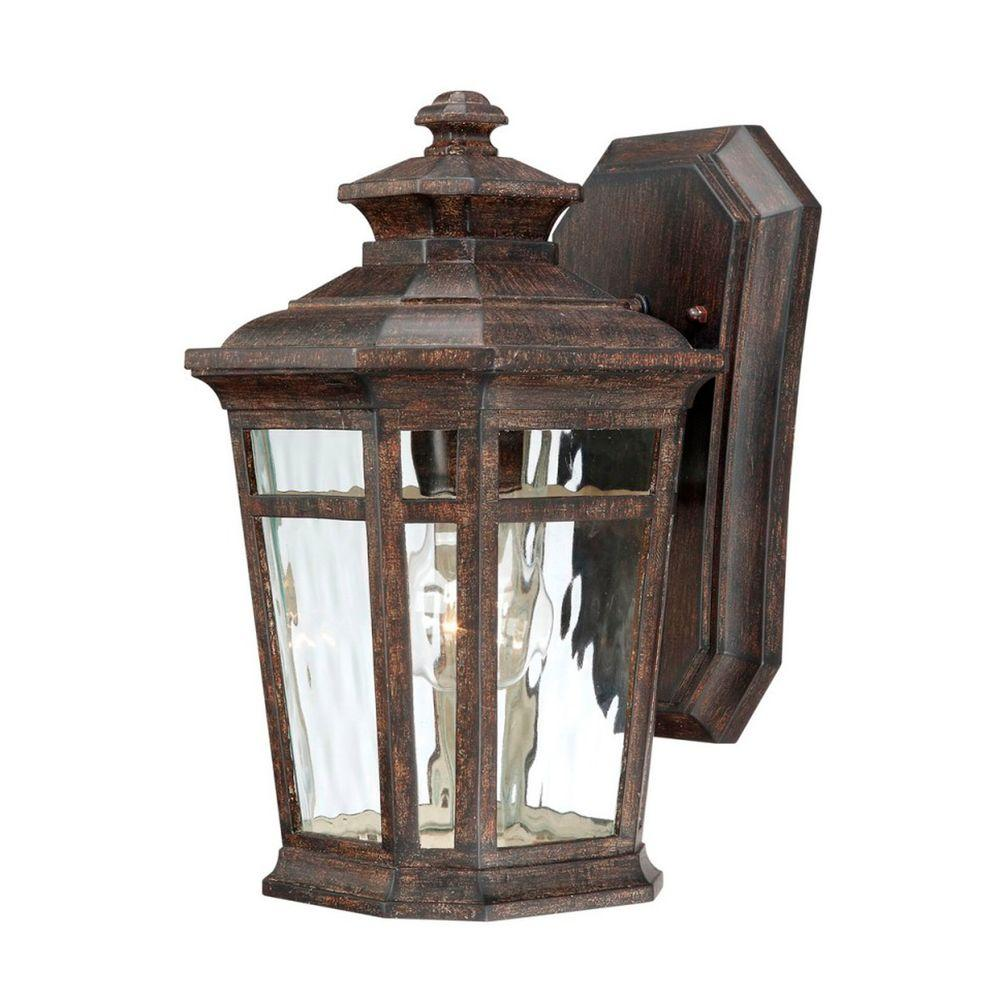 about hampton bay waterton wall mount 1 light outdoor lantern 116377. Black Bedroom Furniture Sets. Home Design Ideas